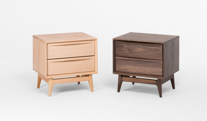Popple Solid Walnut Bedside Cabinet